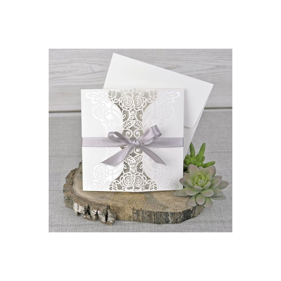 Invitación de boda tríptico floral Cardnovel 39340