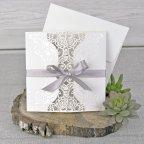 Cardnovel Blumen Triptychon Hochzeitseinladung 39340
