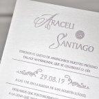 Invitación de boda tríptico floral Cardnovel 39340 texto
