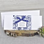 Invito a nozze con fiori blu Cardnovel 39327