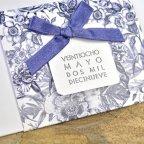 Partecipazione matrimonio fiori blu Cardnovel 39327 dettaglio