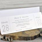 Invitación boda flores azul Cardnovel 39327 texto