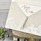 Invitación de boda flores kraft Cardnovel 39302 detalle
