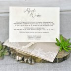 Invito a nozze fiori kraft Cardnovel 39302 testo