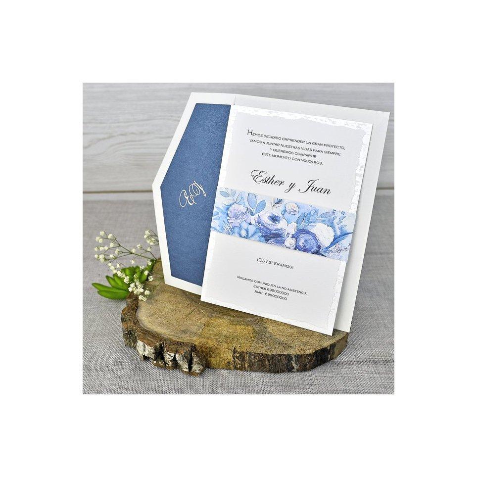 Invito a nozze fiori olio Cardnovel 39305