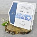 Invitación de boda flores óleo Cardnovel 39305