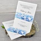 Invitación de boda flores óleo Cardnovel 39305 completa