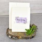 Hochzeitseinladung violette Namen Cardnovel 39311