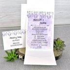Hochzeitseinladungsnamen violetter Cardnovel 39311 Text