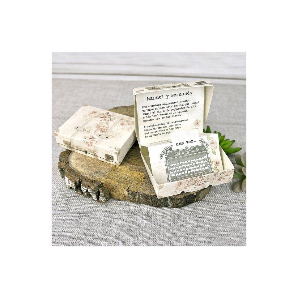 Invitación de boda máquina de escribir Cardnovel 39300