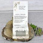 Invitación de boda máquina de escribir Cardnovel 39300 texto