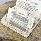 Hochzeitseinladung Cardnovel 39300 Schreibmaschinendetail