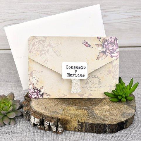 Invitación de boda nombres sobre Cardnovel 39313