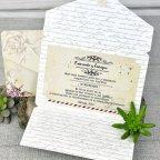 Invitación de boda nombres sobre Cardnovel 39313 abierta