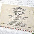 Invitación de boda nombres sobre Cardnovel 39313 texto