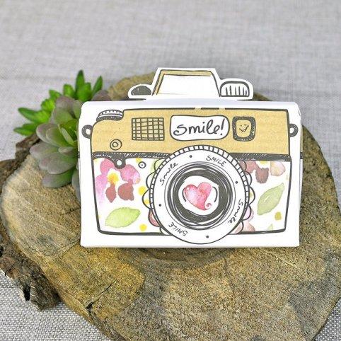 39309 Cardnovel 39309 Photo Camera Wedding Invitation