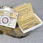 Invitación de boda cámara de fotos Cardnovel 39309 detalle