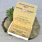 Invitación de boda cámara de fotos Cardnovel 39309 abierta