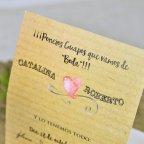 Invitación de boda cámara de fotos Cardnovel 39309 texto
