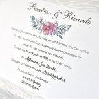 Dettagli degli interni dell'albero dei nomi degli inviti di nozze Cardnovel 39303