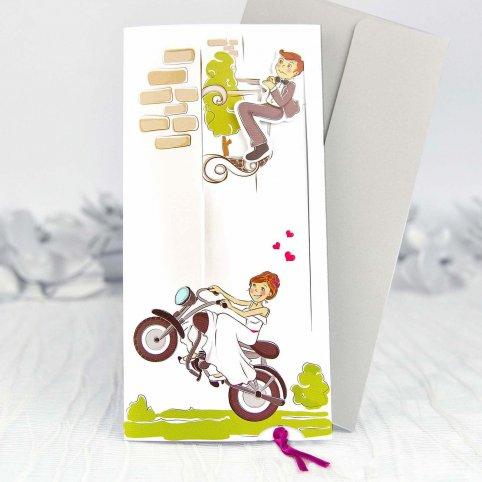 Motorcycle Boyfriends Wedding Invitation, Cardnovel 39132