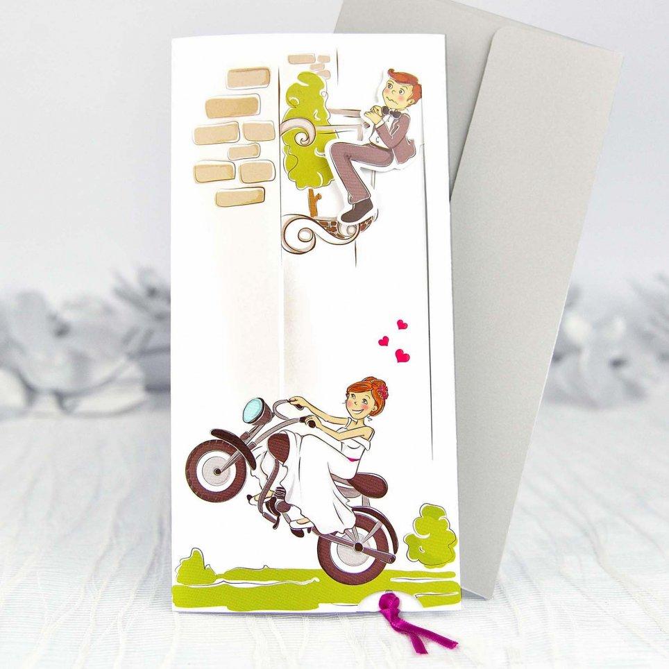 Invito a nozze per gli sposi in moto, Cardnovel 39132