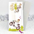 Invitación de boda novios moto, Cardnovel 39132