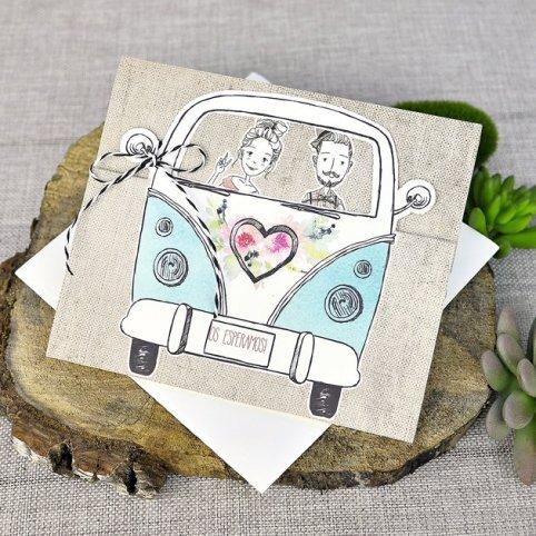 Invitation de mariage mariée et le marié Cardnovel van 39316