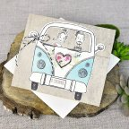 Invitación de boda novios furgoneta, Cardnovel 39316