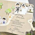 Invito a nozze sposa e sposo Camino Cardnovel 39301 dettaglio