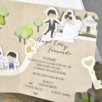 Wedding invitation bride and grooms on Cardnovel 39301 detail