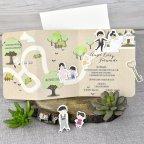 Invitación de boda novios camino Cardnovel 39301 abierta