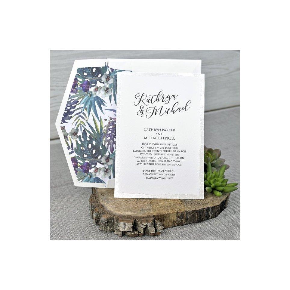Invito a nozze tropicale Cardnovel 39343