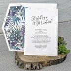 Invitación de boda tropical Cardnovel 39343