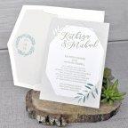 Invitación de boda olivo, Cardnovel 39344