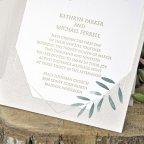Invitación de boda olivo detalle interior Cardnovel 39344