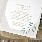 Olive Wedding Invitation Interior Detail Cardnovel 39344