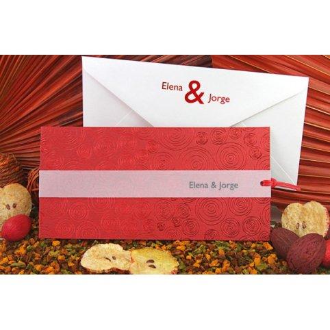 Partecipazione matrimonio rosso passione Edima 100.663