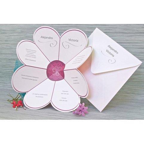 Partecipazione matrimonio cuore petali, Edima 100.662