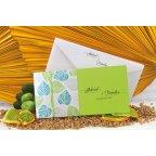 Invitación de boda hojas verdes Edima 100.664 tumbada