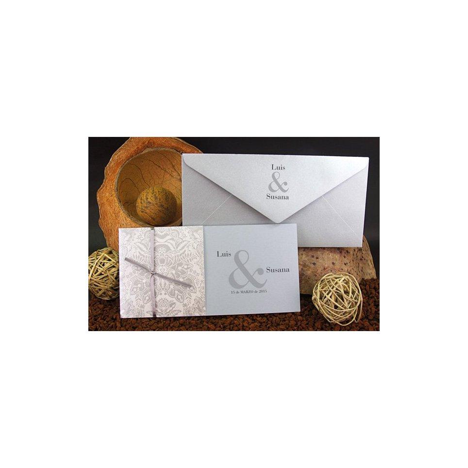 Silberblumenhochzeitseinladung, Edima 100.521