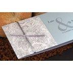 Invitación de boda flor plata, Edima 100.521 banda