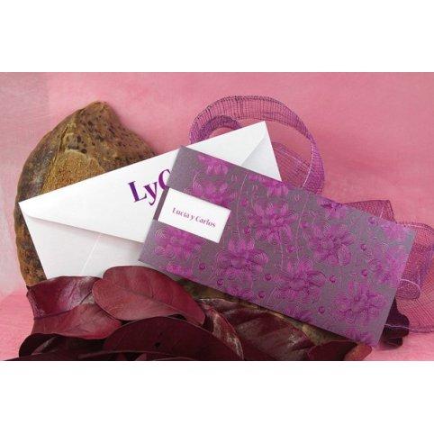 Invitación de boda flor violeta Edima 100.524