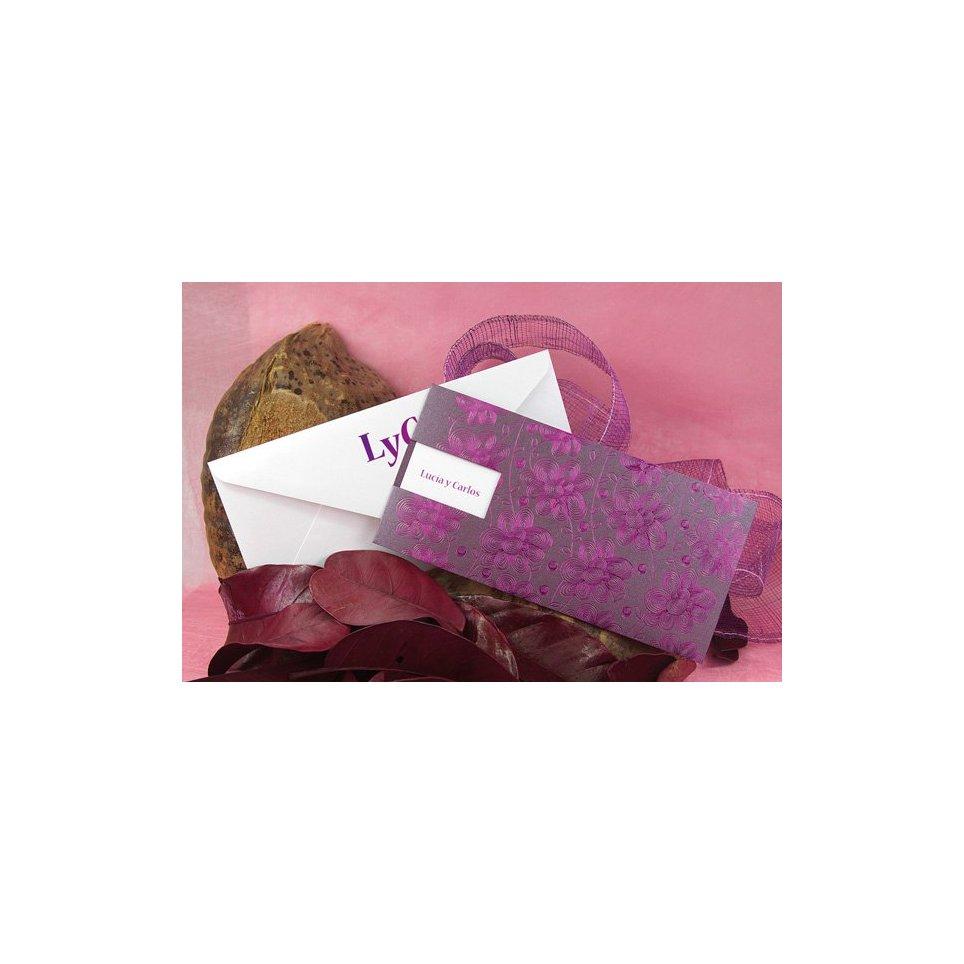 Hochzeitseinladung lila Blume Edima 100.524