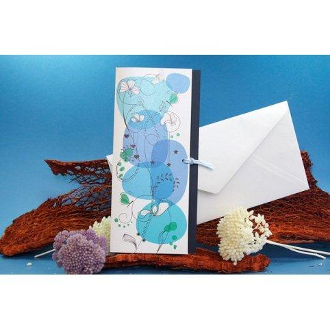 Blue Freshness Wedding Invitation Edima 100,676