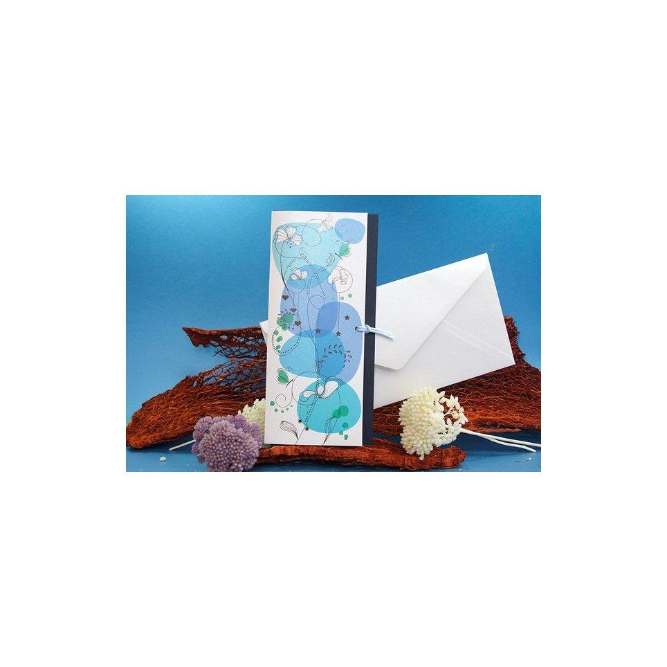 Invitación de boda frescura azul Edima 100.676