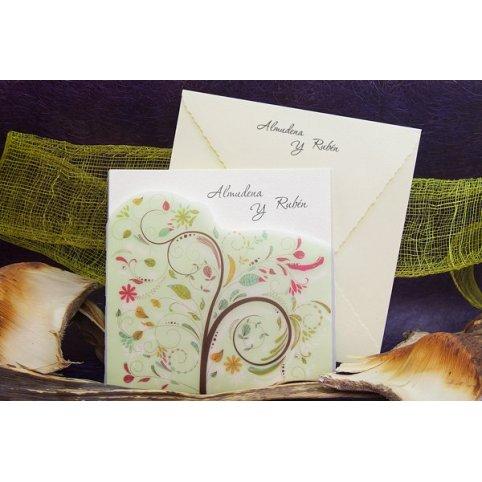 Invitación de boda árbol verde Edima 100.673