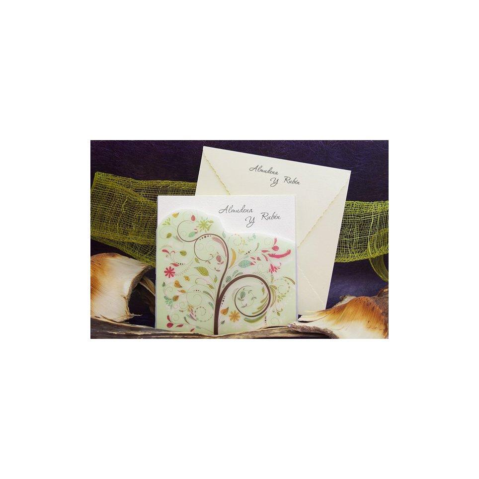 Green Tree Wedding Invitation Edima 100,673