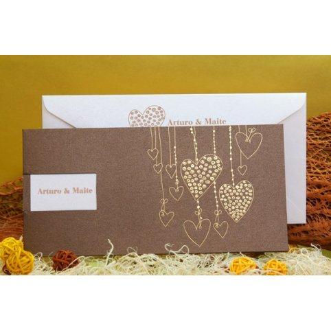 Wedding Invitation Hearts Pendants Edima 100,508