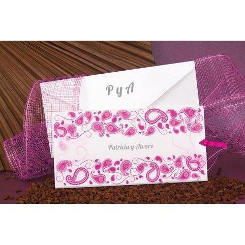 Invitación de boda violeta blanco Edima 100.671